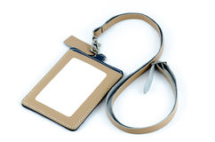 Angestellter Identifikations-Ausweis-Leder Lizenzfreies Stockfoto