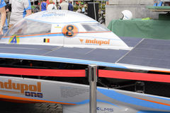 Angetriebenes Solarauto Antwerpen Stockbilder