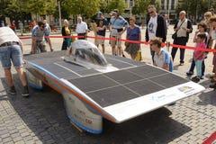 Angetriebenes Solarauto Antwerpen lizenzfreie stockbilder