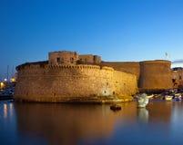 Angevin Castle Gallipoli τή νύχτα Στοκ φωτογραφία με δικαίωμα ελεύθερης χρήσης