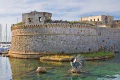Angevine-Aragonese Castle. Gallipoli. Πούλια. Ιταλία. Στοκ εικόνα με δικαίωμα ελεύθερης χρήσης