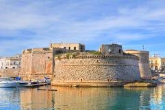 Angevine-Aragonese Castle. Gallipoli. Πούλια. Ιταλία. Στοκ Φωτογραφία