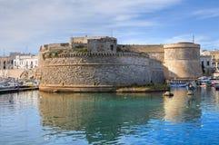 Angevine-Aragonese Castle. Gallipoli. Πούλια. Ιταλία. Στοκ Εικόνες