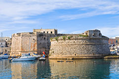 Angevine-Aragonese Castle. Gallipoli. Puglia. Italy. Panoramic view with Angevine-Aragonese Castle. Gallipoli. Puglia. Italy Stock Photo