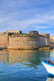Angevine-Aragonese Castle. Gallipoli. Puglia. Italy. Perspective of the Angevine-Aragonese Castle of Gallipoli. Puglia. Italy Stock Photography
