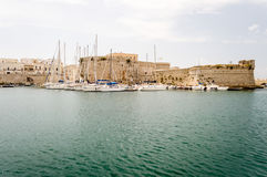 Angevine-Aragonese Castle in Gallipoli, Salento, Apulia, Italy Royalty Free Stock Image