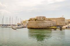 Angevine-Aragonese Castle in Gallipoli, Salento, Apulia, Italy Stock Images