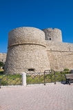 Angevine-Swabian Castle. Manfredonia. Puglia. Italy. Perspective of the Angevine-Swabian Castle. Manfredonia. Puglia. Italy stock photography