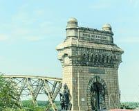 Anghel Saligny Bridge de Romênia imagem de stock royalty free