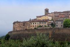 Anghiari, μεσαιωνικό χωριό στην Τοσκάνη - Ιταλία Στοκ Φωτογραφία