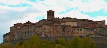 Anghiari, μια συμπαθητική χώρα στην Ιταλία Στοκ Εικόνες