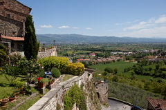 Anghiari Италия Виртуальный тур Тосканы Стоковые Фотографии RF