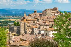 Scenic sight in Anghiari, in the Province of Arezzo, Tuscany, Italy. Anghiari is a hilltop town and comune in the Province of Arezzo, Tuscany, Italy. Bordering royalty free stock photography