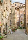 Scenic sight in Anghiari, in the Province of Arezzo, Tuscany, Italy. Anghiari is a hilltop town and comune in the Province of Arezzo, Tuscany, Italy. Bordering royalty free stock images