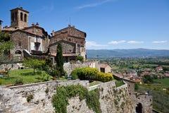 Anghiari Italië Virtuele reis van Toscanië Stock Afbeelding