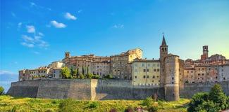 Anghiari Medieval Village City Walls. Arezzo, Tuscany Italy Royalty Free Stock Photo