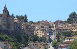 Anghiari Toscaanse Stad Stock Afbeeldingen