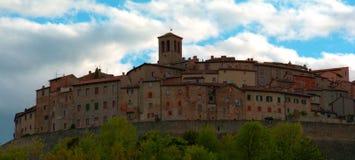 Anghiari, un paese piacevole in Italia Fotografia Stock Libera da Diritti