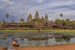 Anghor Wat in Siem oogst in Kambodja Royalty-vrije Stock Foto's