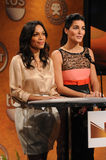 Angie Harmon,Rosario Dawson. Rosario Dawson and Angie Harmon  at the 17th Annual Screen Actors Guild Awards Nominations Announcement, Pacific Design Center, Los Royalty Free Stock Photos