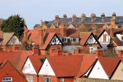 Angielscy grodzcy domy Obraz Stock