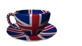 Angielska Britain napoju karmowa filiżanka herbata - 3d rendering Obraz Royalty Free