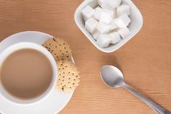 Angielska herbata z ciastkami Zdjęcia Stock