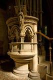 Angielska kościół kamienia ambona fotografia stock