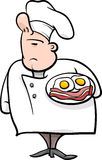 Angielska szef kuchni kreskówki ilustracja Fotografia Stock