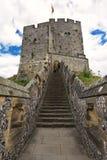 Angielski średniowieczny kasztel Arundel siedzenie diucy Norfolk. Antyczna kamienna fortyfikacja od wieków średnich (UK) zdjęcia royalty free