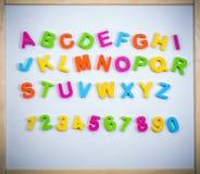 Angielski abecadło od plastikowych listów Fotografia Royalty Free
