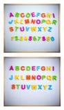 Angielski abecadło od plastikowych listów Obraz Stock