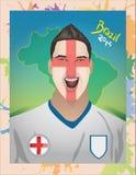 Angielski fan piłki nożnej krzyczeć Zdjęcia Stock