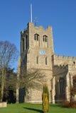 Angielski Farny Kościelny wierza Fotografia Royalty Free