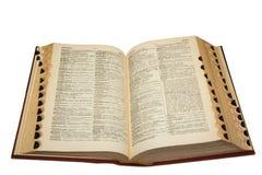 Angielski Hiszpański słownik Obrazy Stock