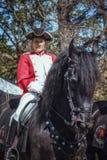 Angielski kawaleria jeździec podczas elf fantazi jarmarku Zdjęcie Royalty Free