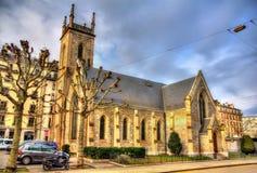 Angielski kościół Święta trójca w Genewa zdjęcia royalty free