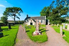 Angielski kościół i cmentarz Zdjęcie Royalty Free