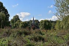 Angielski kościół w wsi Obraz Royalty Free