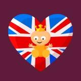 Angielski Królewski dziecko ilustracja wektor