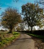 Angielski kraju pas ruchu w jesieni Zdjęcie Royalty Free