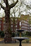 Angielski kurenda park w Londyn podczas jesieni obrazy stock