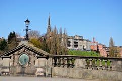 Angielski most, Shrewsbury zdjęcie royalty free