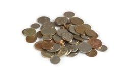 angielskie monety Zdjęcia Royalty Free