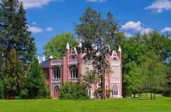 Angielskie ziemie Woerlitz gotyka dom Fotografia Stock