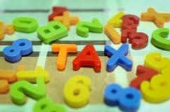 Angielskiego abecadła listów czary podatek obraz stock