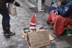 ANGIELSKOJĘZYCZNY bezdomny Zdjęcie Royalty Free