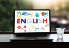 ANGIELSZCZYZNY (Brytyjski Anglia Językowa edukacja) ty mówisz Engl fotografia royalty free