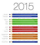 Angielszczyzny porządkują dla 2015 na kolorowych ołówkach ilustracja wektor