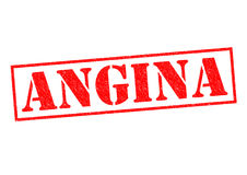 ANGINA. Red Rubber Stamp over a white background Stock Images